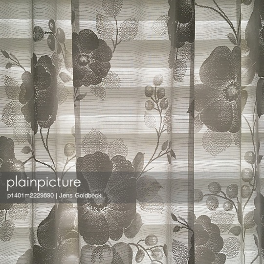 Curtain with floral pattern - p1401m2229890 by Jens Goldbeck