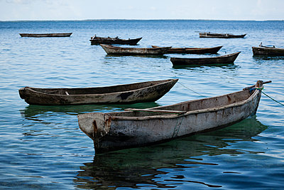 Fishing boats - p842m939615 by Renée Del Missier