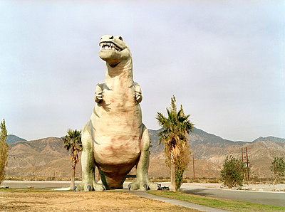 Cabazon Dinosaurs - p1047m1004829 by Sally Mundy