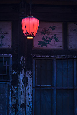 Lantern on a building - p1170m1444303 by Bjanka Kadic
