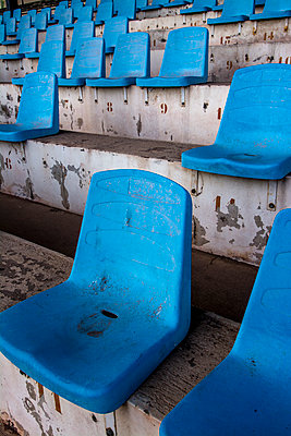 Blue Seats in a Stadium. France. - p813m1066396 by B.Jaubert