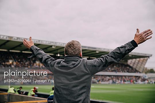 Great Britain, London, Millwall fan in the Football Stadion The Den  - p1253m2230261 by Joseph Fox