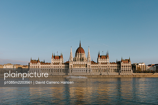 Parliament building in Budapest - p1085m2203561 by David Carreno Hansen
