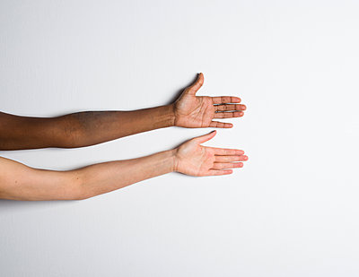 Two hands with different skin colours - p1229m1425325 by noa-mar