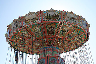 Carousel at a fair - p5780051 by Genie C Balantac