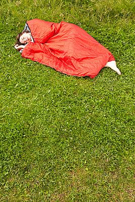 Sleeping woman - p888m956337 by Johannes Caspersen
