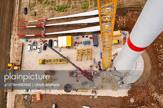 Aufbau eines Windrades - p1079m880942 von Ulrich Mertens