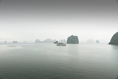Ship on the Ha Long bay - p1445m2082683 by Eugenia Kyriakopoulou