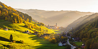 Münstertal, Black Forest (Schwarzwald), Breisgau-Hochschwarzwald, Baden-Württemberg, Germany. Saint Trudpert Monastery. - p651m2007266 by Marco Bottigelli