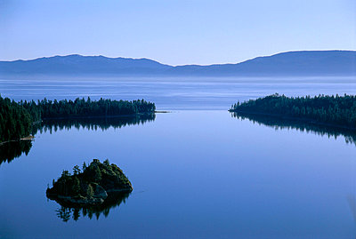 Landscape of Emerald Bay, Lake Tahoe, California - p3431711 by Jerry Dodrill