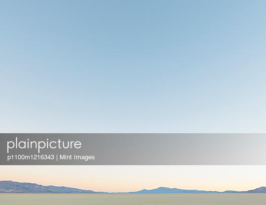 Black Rock Desert and vast sky at dawn, Nevada