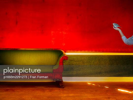 Green Sofa - p1693m2291273 by Fran Forman