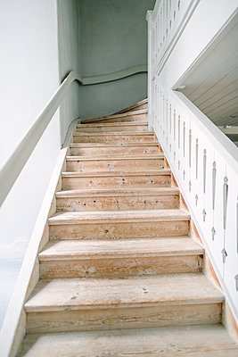Wooden stairs - p312m2050103 by Linda-Pauline Arousell