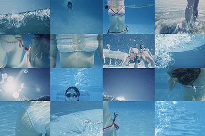 Sommerfeeling Unterwassercollage - p1519m2064278 von Soany Guigand