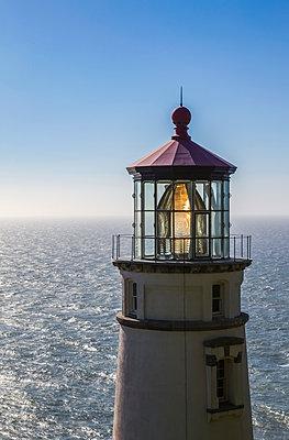 Heceta Head Light is a lighthouse on the Oregon Coast; Oregon, United States of America - p442m1442460 by Debra Brash
