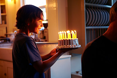 Birthday Candles on Cake - p1260m1073049 by Ted Catanzaro