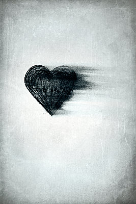Charcoal drawing, bleeding heart - p1248m2228848 by miguel sobreira