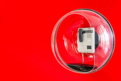 Telephone in decorative plastic bubble - p429m769003f by Manuel Sulzer
