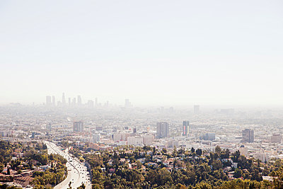 View over Los Angeles - p956m1044251 by Anna Quinn