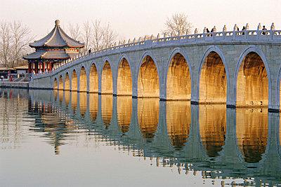 Seventeen Arch Bridge, Kunming Lake, Summer Palace, Beijing, China - p8710618 by Charles Bowman