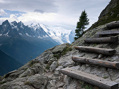 Steep steps in alpine landscape - p3882774 by Donna Weather
