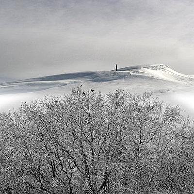 Person im Schnee - p1240m2063344 von Adeline Spengler