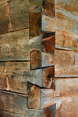 Corner of a wooden structure - p30110491f by Marc Volk