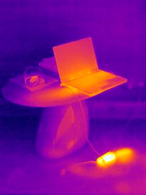 Thermal image of laptop charging - p429m727220 by Joseph Giacomin