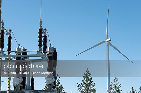 Umspannwerk eines Windparks  - p1079m1042400 von Ulrich Mertens