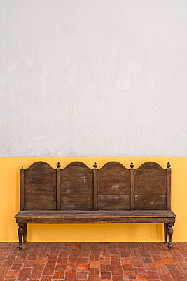 old wooden bench - p1280m1562083 by Dave Wall