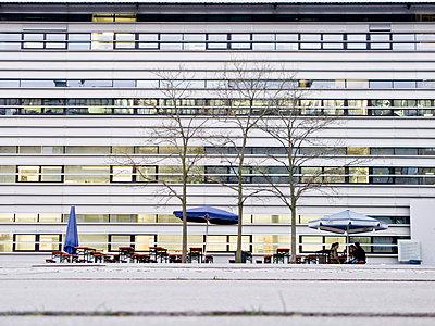 Biergarten von der Technischen Universität, München, Bayern, Deutschland - p1316m1160396 von Peter von Felbert