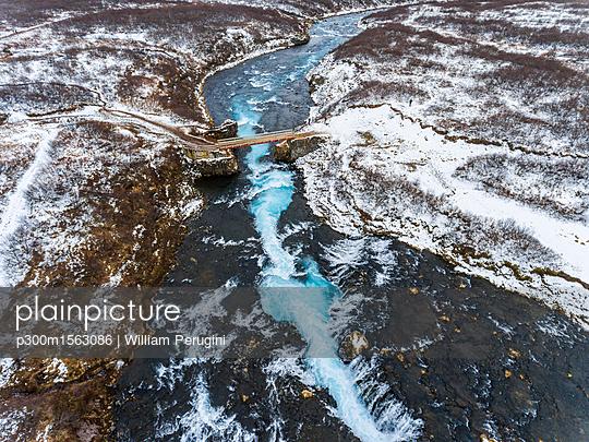 Iceland, Bruarfoss waterfall, view of the waterfall - p300m1563086 by William Perugini