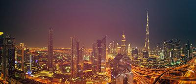 Dubai at night - p1668m2288172 by daniel belet