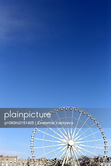 Paris, Ferris wheel - p1063m2151405 by Ekaterina Vasilyeva