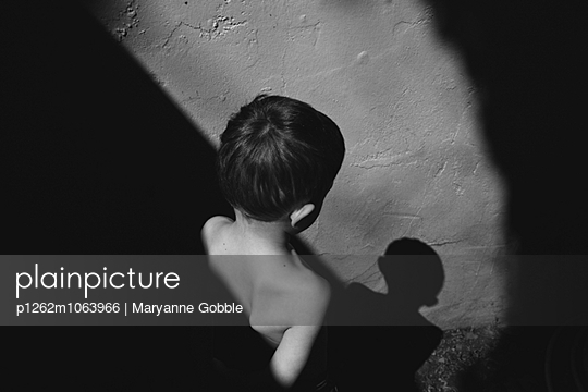 Boy and His Shadow - p1262m1063966 by Maryanne Gobble