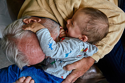 Grandfather with grandson - p1146m2187819 by Stephanie Uhlenbrock