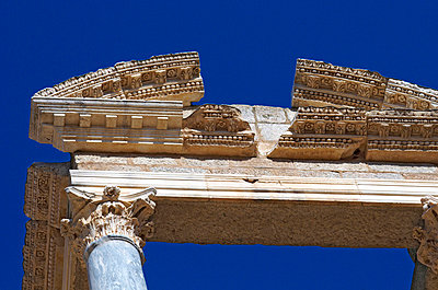 Detail of roman theatre - p8850129 by Oliver Brenneisen