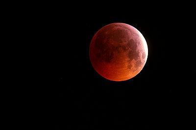 Germany, Frankfurt on Main, total lunar eclipse - p300m2081497 by Thomas Grohmann