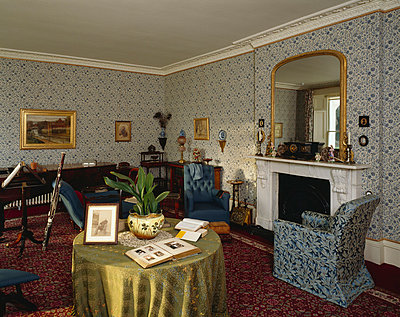 Down House, Luxted Road, Downe, , Kent BR6 7JT. Home of Charles Darwin. View of the Drawing Room. February 1998 - p8552562 by English Heritage photography