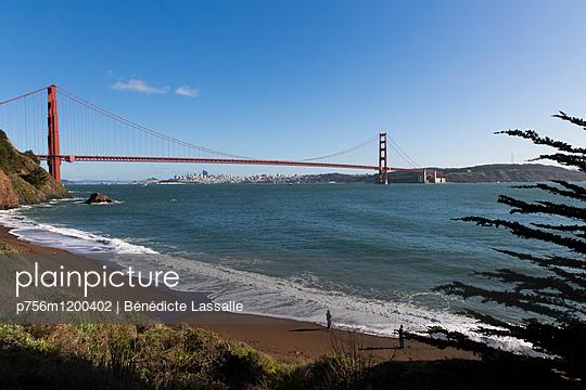 Golden Gate Bridge - p756m1200402 von Bénédicte Lassalle