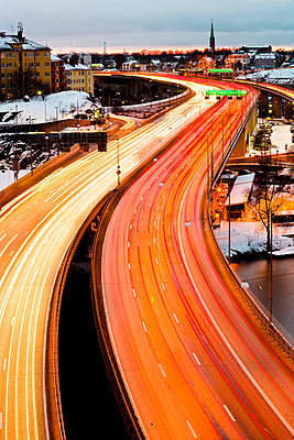 Traffic in winter Stockholm Sweden - p31222790f by Plattform