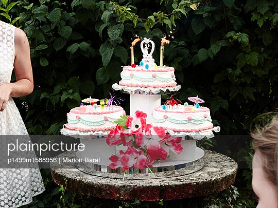 Hochzeitstorte - p1499m1588956 von Marion Barat