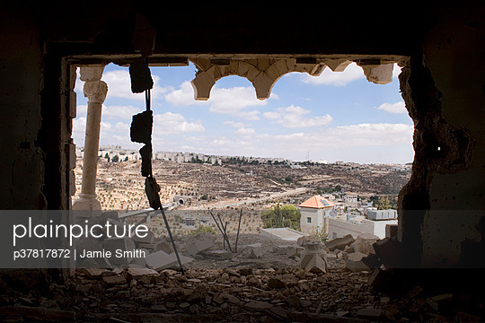 Shelled building on West Bank - p37817872 by Jamie Smith