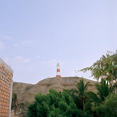 Lighthouse, Peru, Mancora, Piura - p1177m970417 by Philip Frowein