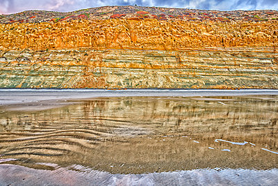 Coastal bluffs at Torrey Pines State Beach - p1436m1573246 by Joseph S. Giacalone