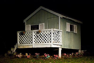 Playhouse at Night - p6940680 by Eric Schwortz