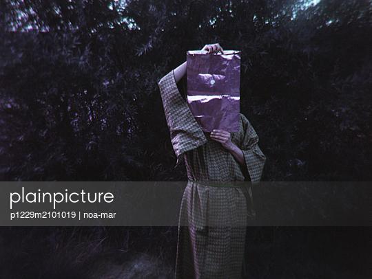 Frau in Kimono - p1229m2101019 von noa-mar