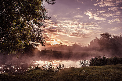 Sunrise in Constable Country - p1628m2195740 by Lorraine Fitch