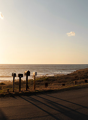 Letterboxes at the roadside in California - p1324m1165137 by Michael Hopf