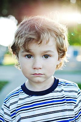 Portrait of a little boy - p5540017 by Ben Clark